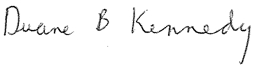 Duane Kennedy Signature